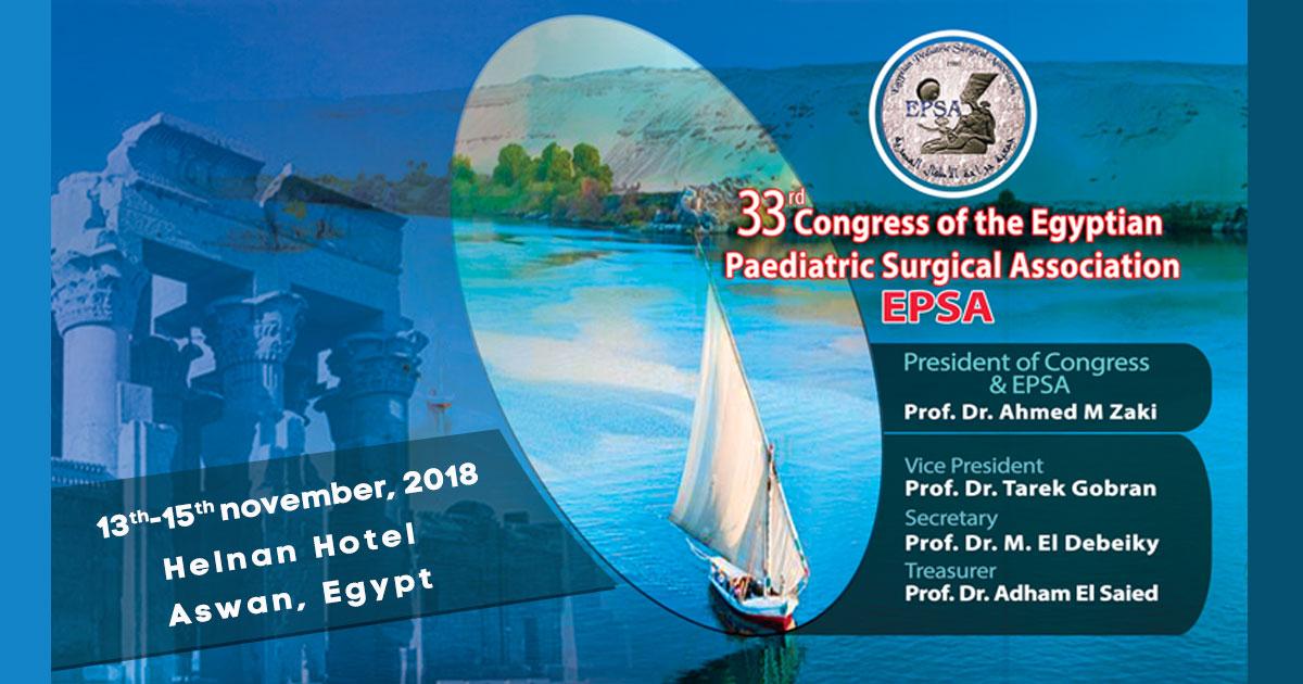33rd Congress of the Egyptian Paediatric Surgical Association - EPSA